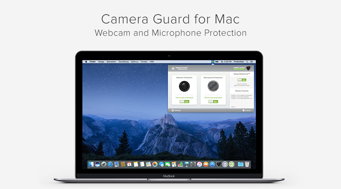 Hacker protection Camera Guard blocks webcam and microphone on macOS Image